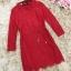 เดรสผ้าลูกไม้เนื้อดี สีแดงแขนยาว ทรงตรง คอเสื้อระบายผ้าลูกไม้ มาพร้อมสายผูกเอวเหมือนแบบ thumbnail 15