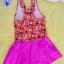 ชุดว่ายน้ำเด็กผู้หญิงสีส้มลายจุด กระโปรงสีชมพู สวย หวาน น่ารัก thumbnail 2