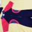 ชุดว่ายน้ำเด็กบอดี้สูท สีดำ แขนแดง แถบเทาแดง แขนสั้น ความยาวแค่เข่า thumbnail 2
