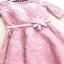 เดรสออกงานสุดหรู ตัวเสื้อผ้าลูกไม้เนื้อดีสีชมพูเข้ม ที่เอว แต่งด้วยผ้าซาตินทำเป็น รูปดอกไม้เหมือนแบบ thumbnail 11