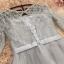 เดรสออกงานสุดหรู สีเทา ตัวเสื้อผ้าโปร่งแต่งด้วยดิ้นเล็กๆๆสีเงิน แขนยาว 3 ส่วน แต่งโบว์ที่เอว thumbnail 9