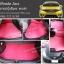 ยางปูพื้นรถยนต์ Honda Jazz ลายสนุ๊กสีแดง ขอบดำ