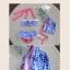 ชุุดว่ายน้ำเด็กผู้หญิงทูพีชสีฟ้าขาว พร้อมหมวก thumbnail 3