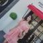 เดรสผ้าลูกไม้ถักโครเชต์สีชมพูโอรส ดีไซน์เก๋ เปิดไหล่หนึ่งข้าง ช่วงไหล่ที่เปิดมีสายจั๊ม ที่แขน thumbnail 6
