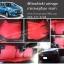 ยางปูพื้นรถยนต์ Mitsubishi Attrage ลายกระดุมสีแดง ขอบดำ