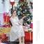 เดรสสไตล์เจ้าหญิง ผ้าลูกไม้ปักลายสีขาว งานปักละเอียดสวยมากค่ะ แขนยาวสี่ส่วน แขนเสื้อทรงกระดิ่ง thumbnail 3