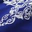 เดรสผ้าโพลีเอสเตอร์สีน้ำเงิน แต่งไหล่ หน้าอก แขนเสื้อ ด้วยผ้ามุ้งปักด้ายสีเหลือบทอง thumbnail 14