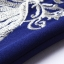 เดรสผ้าโพลีเอสเตอร์สีน้ำเงิน แต่งไหล่ หน้าอก แขนเสื้อ ด้วยผ้ามุ้งปักด้ายสีเหลือบทอง thumbnail 9