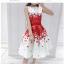 set เสื้อและกระโปรงพิมพ์ลายดอกกุหลาบสีแดง สวยมากๆๆค่ะ thumbnail 12