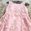 เดรสผ้าลูกไม้ปักลายดอกไม้ปักสีชมพู แขนกุด เดรสเข้ารูปช่วงเอว กระโปรงทรงเอ มีซับใสสีชมพู thumbnail 18