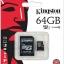 64 GB MICRO SD CARD KINGSTON CLASS 10 thumbnail 1