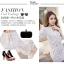 set เสื้อและกระโปรงสีขาวสวยมากค่ะ thumbnail 7