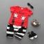 ชุดเด็กน่ารัก เสื้อแขนสั้น ลาย MY MOUSE สีแดง พร้อมกางเกงลายทางสีขาวดำ thumbnail 1