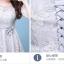 เดรสออกงานสุดหรู ตัวเสื้อผ้าลูกไม้เนื้อดีสีเทา ที่เอว แต่งด้วยผ้าซาตินทำเป็น รูปดอกไม้เหมือนแบบ thumbnail 14