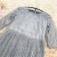 เดรสผ้าลูกไม้เนื้อดี ลายเส้นของผ้าลูกไม้ตามแบบ สีเทา แขนยาวสามส่วน คาดที่เอวด้วยริบบิ้นแถบกว้าง thumbnail 12