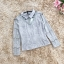 เสื้อผ้าลูกไม้เนื้อดีสีเทา แขนยาว คอปก คอเสื้อด้านหน้า แต่งด้วยผ้าโปร่ง และประดับด้วยผ้าถักโครเชต์ thumbnail 14