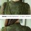 เสื้อผ้าลูกไม้เนื้อนิ่ม แขนยาว สีเขียว มีซับในช่วงลำตัว ชายปล่อย มีเสื้อกั๊กแขนกุด คอวี ให้ใส่ทับด้ thumbnail 8