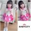BabyCity ชุดเสื้อพริ้วไหวกระโปรงลายลูกเจี๊ยบ Pink thumbnail 1