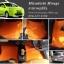 ยางปูพื้นรถยนต์ Mitsubishi Mirage ลายกระดุมสีส้ม