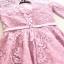 เดรสออกงานสุดหรู ตัวเสื้อผ้าลูกไม้เนื้อดีสีชมพูเข้ม ที่เอว แต่งด้วยผ้าซาตินทำเป็น รูปดอกไม้เหมือนแบบ thumbnail 13