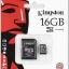 16 GB MICRO SD CARD KINGSTON CLASS 4 thumbnail 1