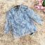 เสื้อผ้าลูกไม้ขนฟูมุ้งมิ้ง โทนสีเทาและเดินเส้นด้วยด้ายสีน้ำเงินตามแบบ แขนยาว ตัวผ้าแต่งด้วยดิ้นสีเงิน thumbnail 10