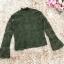 เสื้อผ้าลูกไม้เนื้อนิ่ม แขนยาว สีเขียว มีซับในช่วงลำตัว ชายปล่อย มีเสื้อกั๊กแขนกุด คอวี ให้ใส่ทับด้ thumbnail 9