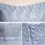 เดรสออกงานสุดหรู สีเทา ตัวเสื้อผ้าโปร่งแต่งด้วยดิ้นเล็กๆๆสีเงิน เปิดไหล่ แต่งโบว์ที่เอว thumbnail 4