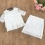 set เสื้อและกระโปรงผ้าลูกไม้ถักสีขาว สวยมากๆๆค่ะ thumbnail 7