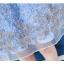 เดรสตัวเสื้อผ้าลูกไม้ สีฟ้า คอจีน กระโปรงด้านนอกซ้อนด้วยผ้าไหมแก้วแต่งผ้าลายดอกไม้สีฟ้า เทา thumbnail 15
