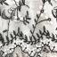 เดรสผ้าชีฟองเนื้อดีสีขาว ปักด้ายลายใบไม้เล็กๆๆสีดำ และมีผ้าถักรูปดอกไม้เล็กๆๆสีขาวลอยออกมาจากตัวชุด thumbnail 19