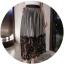 กระโปรงผ้ากำมะหยี่เนื้อนุ่มสีเทาอัดพลีต เอวเป็นแถบยืดสีดำ ชายกระโปรงเย็บต่อกับผ้าลูกไม้เนื้อดีสีดำ thumbnail 6