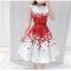 set เสื้อและกระโปรงพิมพ์ลายดอกกุหลาบสีแดง สวยมากๆๆค่ะ thumbnail 2