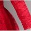 เดรสผ้าลูกไม้ถักสีแดง แขนยาว เข้ารูปช่วงเอว กระโปรงทรงเอ เย็บจับจีบรอบเอว มีกระเป๋าที่กระโปรง thumbnail 10