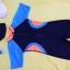ชุดว่ายน้ำเด็กบอดี้สูท สีดำ แขนฟ้า แถบส้มฟ้า แขนสั้น ความยาวแค่เข่า thumbnail 2