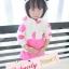 BabyCity ชุดเสื้อมีฮูทพร้อมกางเกงกระโปรงสไตล์มินนี่ thumbnail 4
