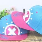 หมวกสแนปแบคช็อปเปอร์ (ฟ้า-ชมพู)