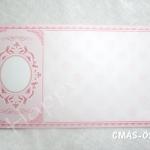 CMAS-02 AP การ์ดแต่งงานราคาไม่เกิน 8.50 บาท