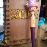 สมุดไม้+ปากกา