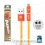 สายชาร์จ Remax Cable i5/i6/Micro AURORA ( สีส้ม )