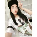 เสื้อแฟชั่นเกาหลี สไตล์สาวฮิพฮอพ จะใส่เที่ยวหรือจะใส่แทนชุดนอนตัวเก่ง ก็เก๋ไม่เบา - ขาว