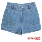 กางเกงยีนส์ขาสั้นแฟชั่น มีให้เลือกหลายแบบ set 3 - 5076 ยีนส์ซีด