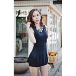 เดรสสั้นเกาหลี สวมใส่สบายแบบกางเกงกระโปรง สวย ดูดี โดดเด่น ทุกมุมมอง - กรมท่า L