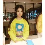เสื้อกันหนาวสี colorful สวย สดใส สมวัยสาวๆ - เหลือง