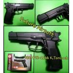 Ekol Ares Magnum/Hi-Power Browning (M1935) cal.9mm.PAK. Black Blank Gun (สีดำด้าน)