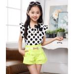 เสื้อผ้าแฟชั่นสำหรับเด็ก สวย สดใส ดีไซน์น่ารักๆ สำหรับหนูน้อย โดยเฉพาะ - เขียว 130 cm.