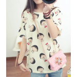 เสื้อยืดแฟชั่นสำหรับสาวๆ ผ้านิ่ม มีลายให้เลือกมากมาย และหลายขนาด - 2232มารูโกะ