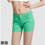 กางเกงยีนส์ขาสั้นสีสันโดนๆ แฟชั่นสีสันสดใส สำหรับสาวๆ ได้ใส่ชิลๆ โชว์ขาเรียวๆ SET4 - เขียว