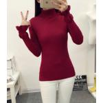 เสื้อยืดแขนยาวแฟชั่น เด่นสะดุดตาด้วยแขนเสื้อดีไซน์เก๋ๆ และสีที่มีให้เลือกกันจุใจ - แดง