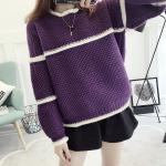 เสื้อกันหนาวแฟชั่น สีสันสวยๆ โดนๆ กับดีไซน์คลาสสิคที่ใส่ได้ทุกยุค อุ่นแน่นอนยามสวมใส่ - ม่วง